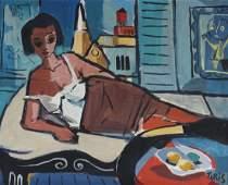 Nicholas Takis 1903-1965 American Modern Painting