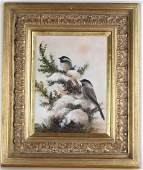 Howard Rogers American Art Winter Snow Birds Painting