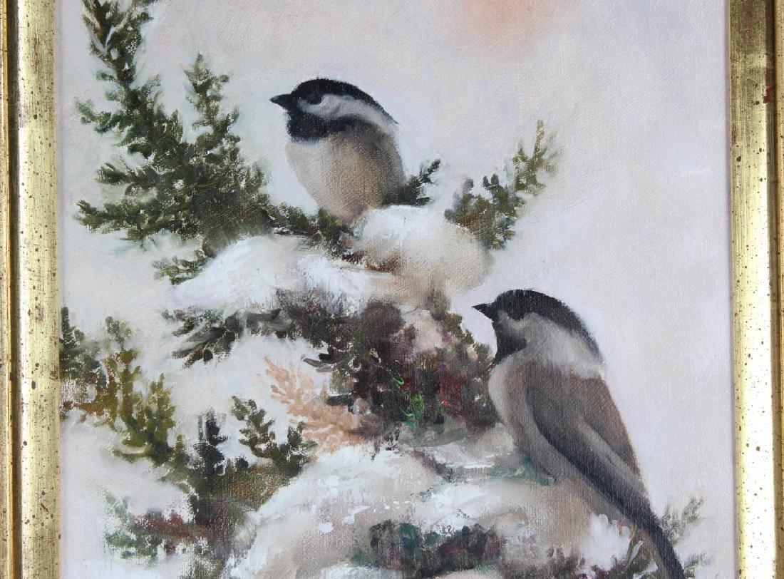 Howard Rogers American Art Winter Snow Birds Painting - 3