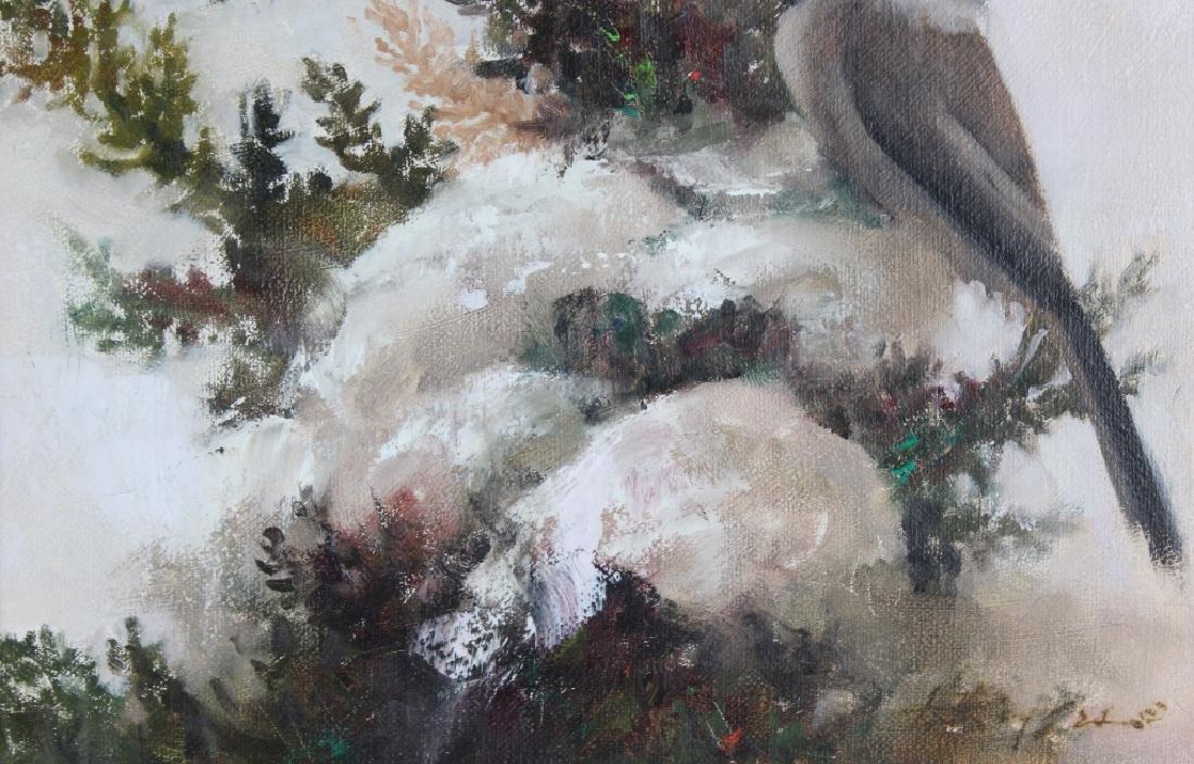 Howard Rogers American Art Winter Snow Birds Painting - 4