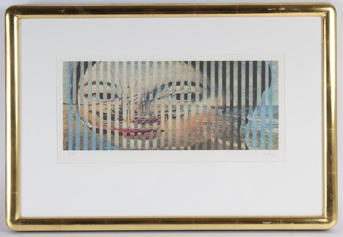 Pencil Signed L/E Surreal Lithograph MYSTERY ART