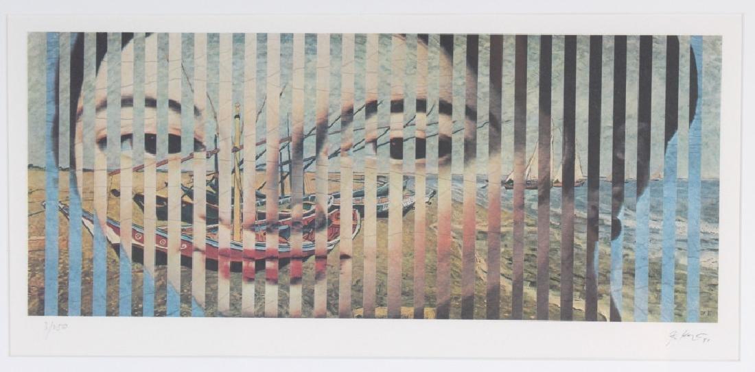 Pencil Signed L/E Surreal Lithograph MYSTERY ART - 2