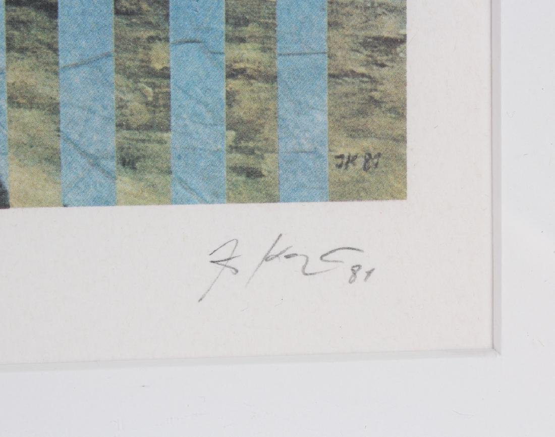 Pencil Signed L/E Surreal Lithograph MYSTERY ART - 4