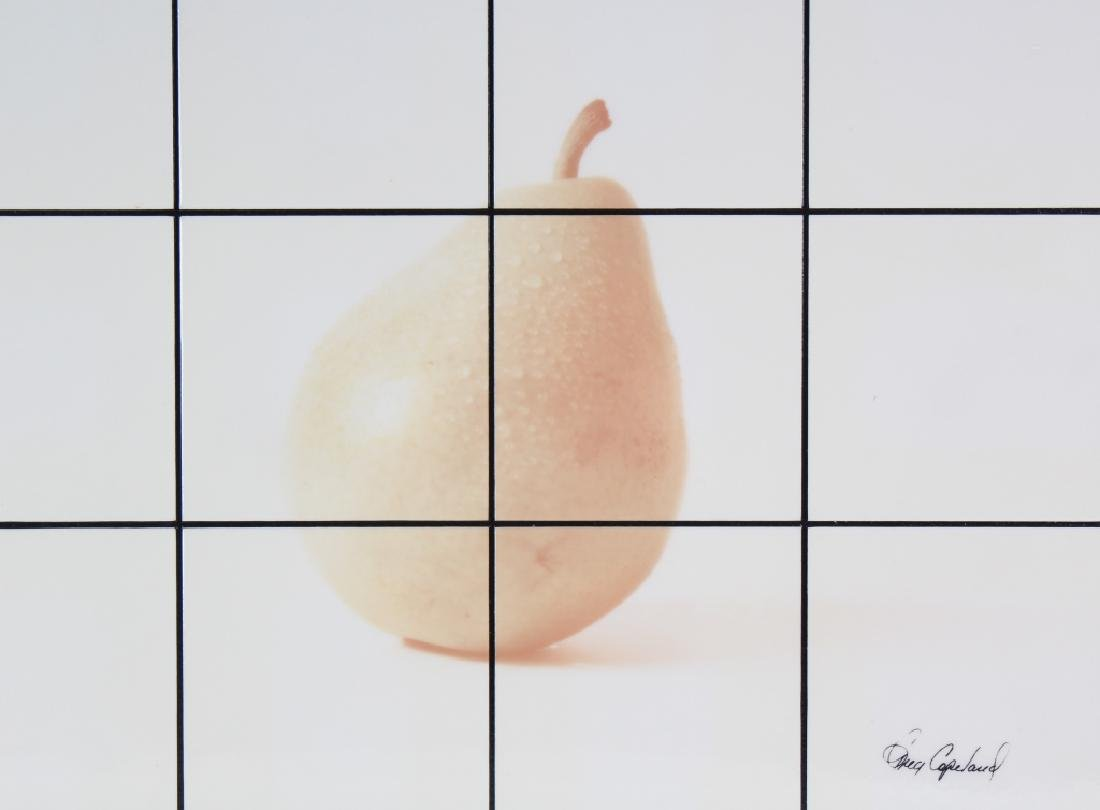 Greg Copeland Studio Metal Tile Pear Art Collage - 2
