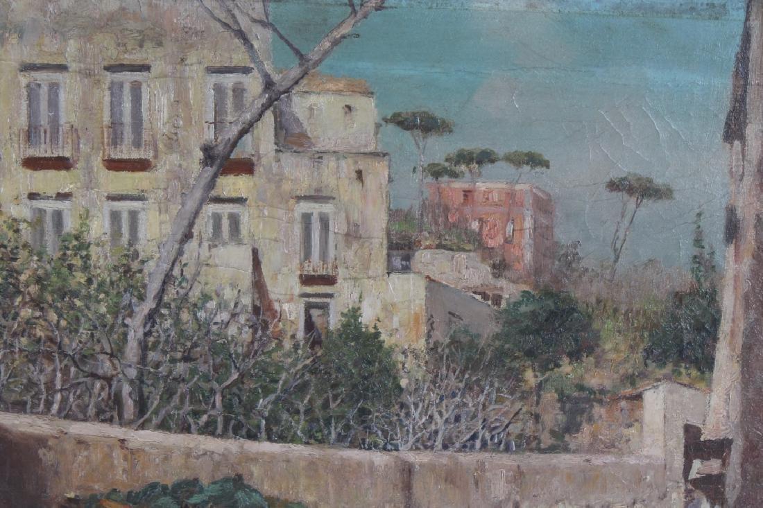 Fine Antique Street Scene Oil Painting MYSTERY ART - 4
