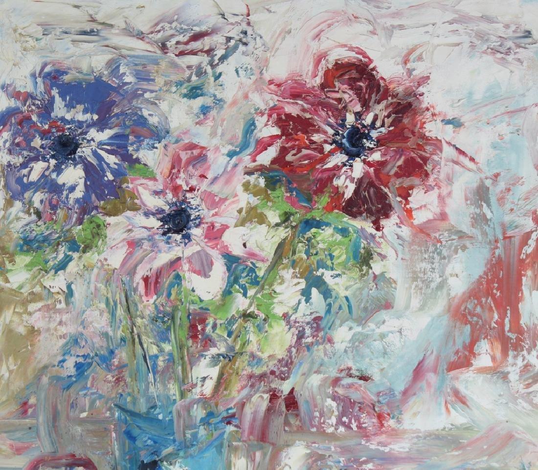 Ed Blas Still Life Flowers Original Art Oil Painting - 3