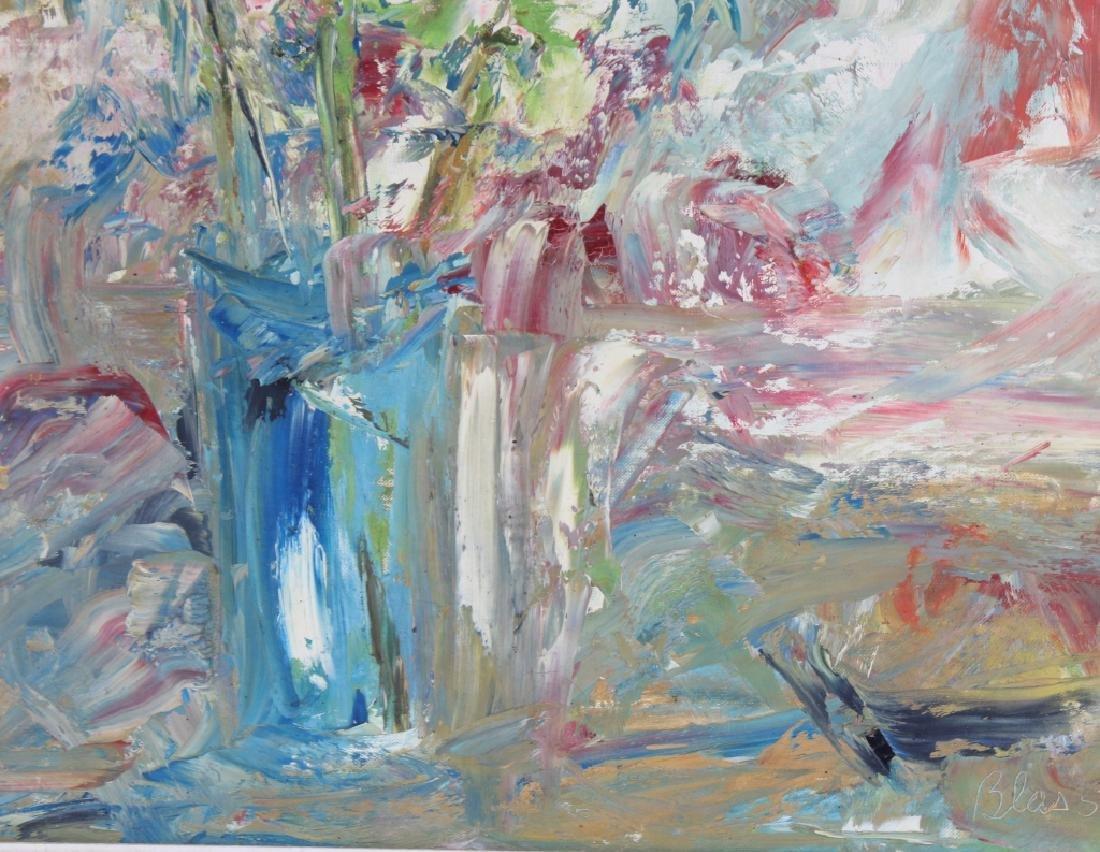 Ed Blas Still Life Flowers Original Art Oil Painting - 4