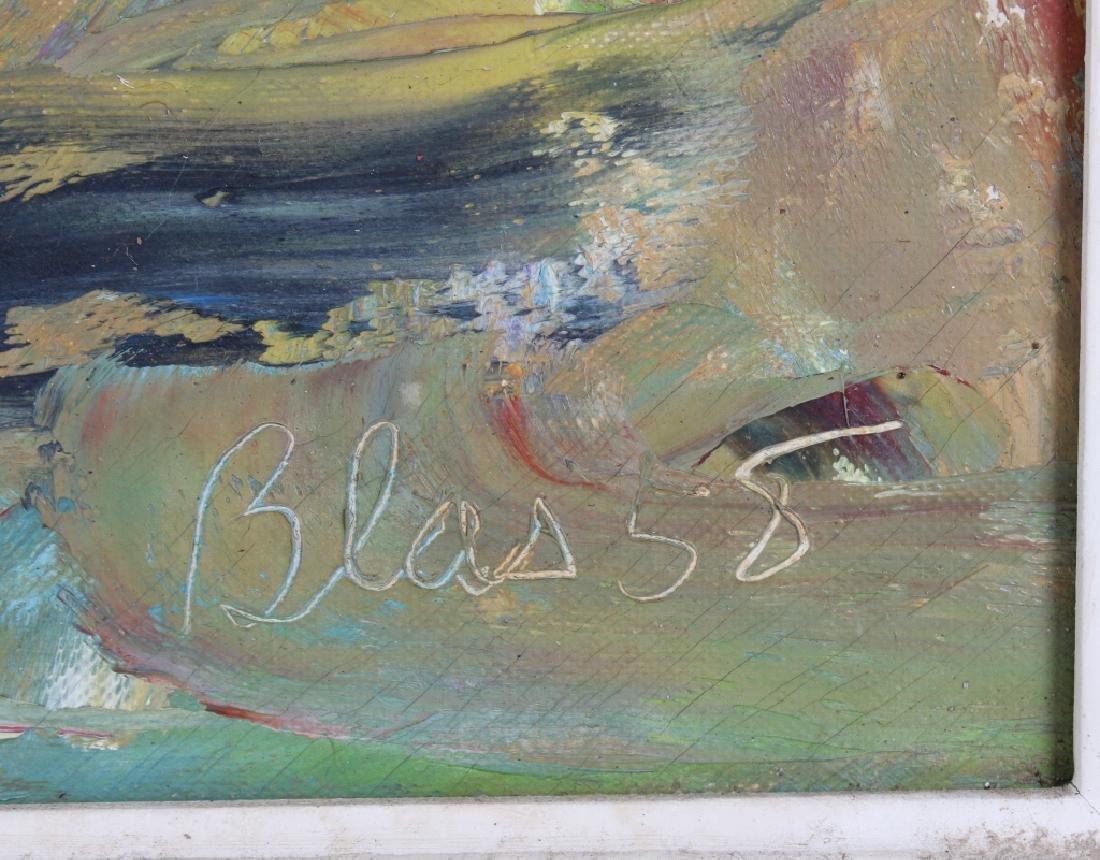 Ed Blas Still Life Flowers Original Art Oil Painting - 5