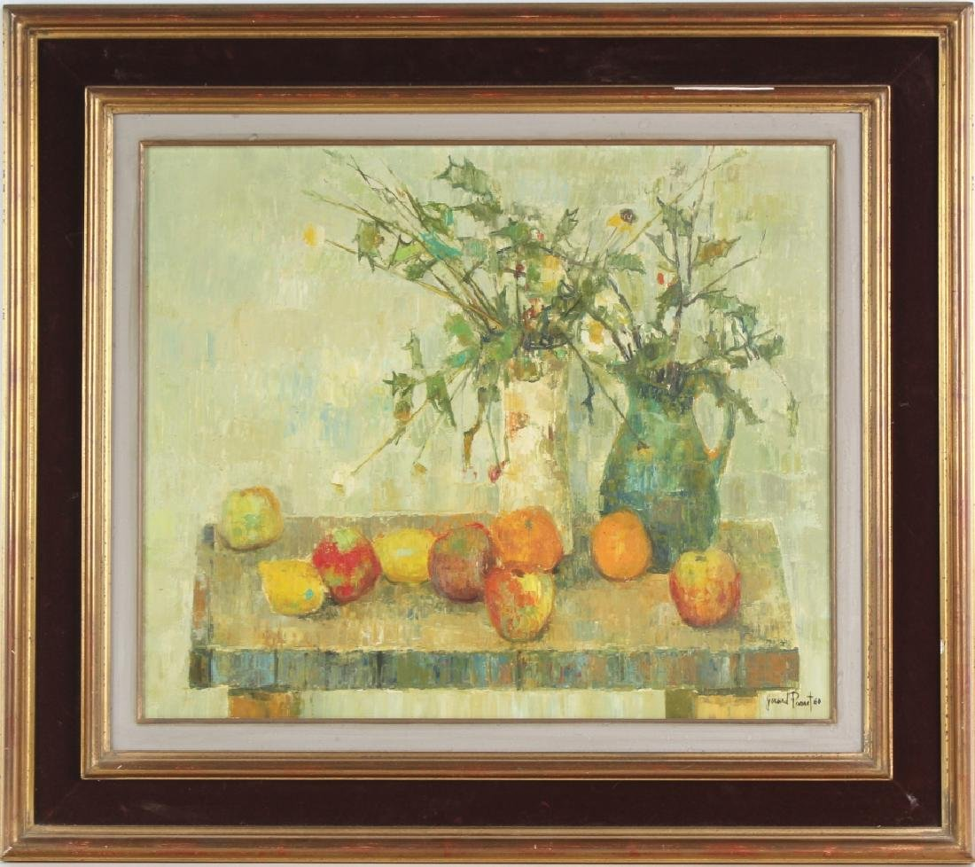 Gerard Passet 1936- French Still Life Oil Art Painting