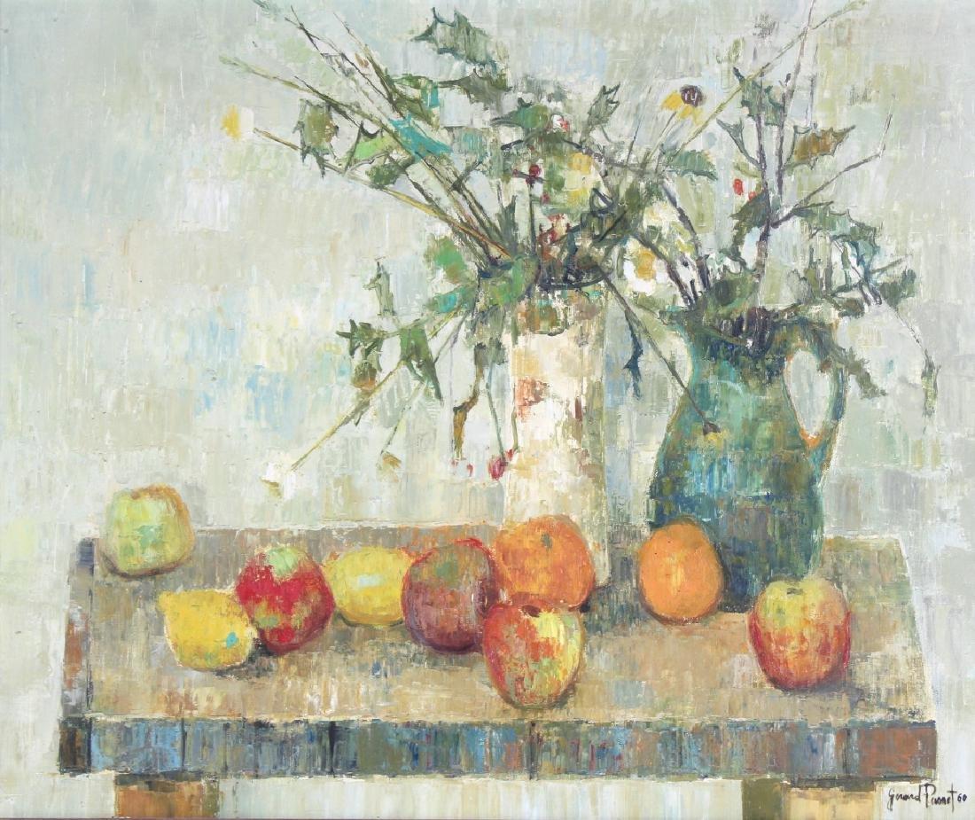 Gerard Passet 1936- French Still Life Oil Art Painting - 2