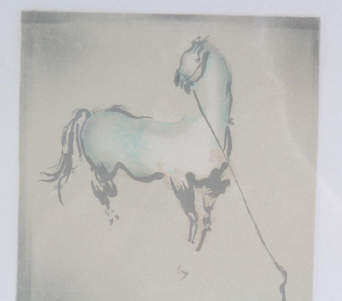 Mystery Artist LE Horse Framed Lithograph SIGNED ART - 5