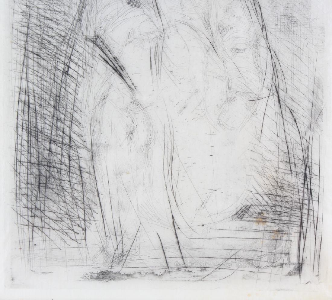 Whistler 1834-1903 Musician & Cello Print Etching Art - 4