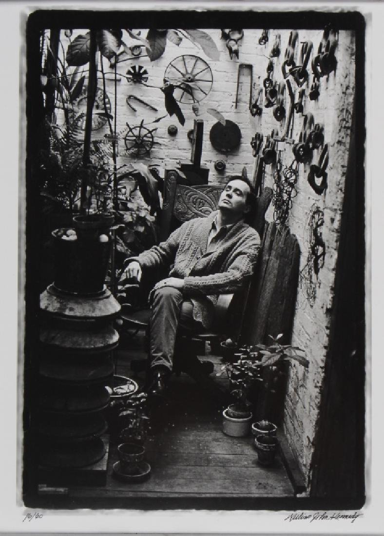 William Kennedy Photo Robert Indiana In Plant Room - 2