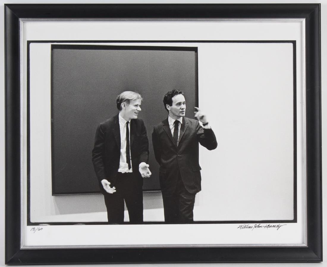 William Kennedy Photo Robert Indiana & Andy Warhol