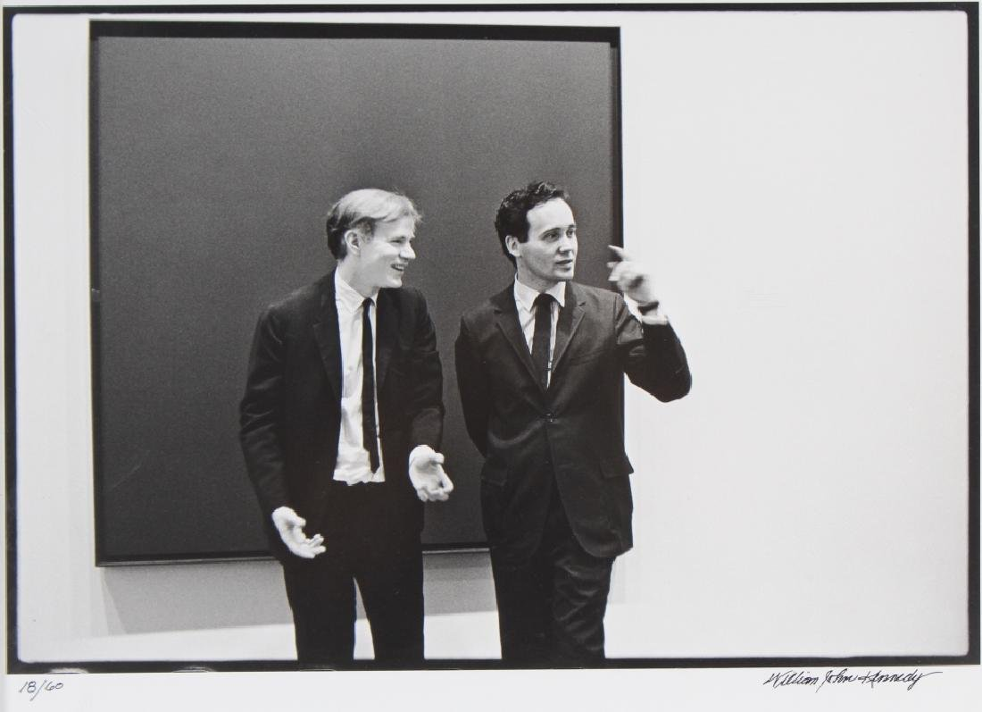 William Kennedy Photo Robert Indiana & Andy Warhol - 2