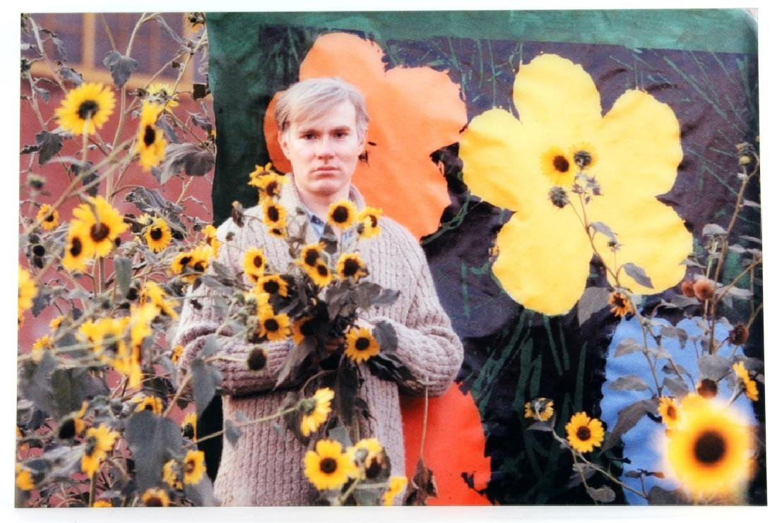 Andy Warhol Flowers Photograph Art by William Kennedy