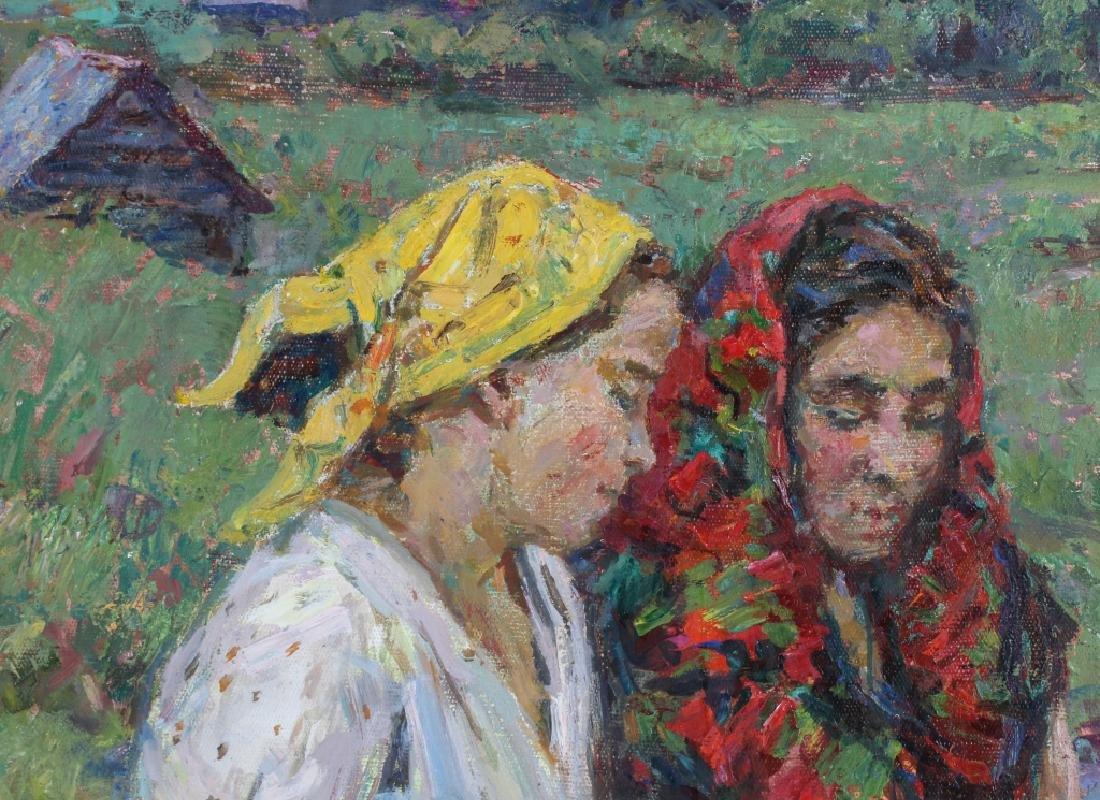 Russian Impressionist Figural Art Landscape Painting - 6