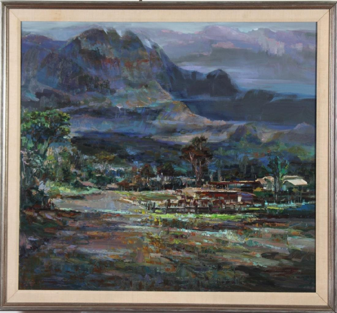 Lau Chun (b.1942) Hawaiian Landscape Oil Painting