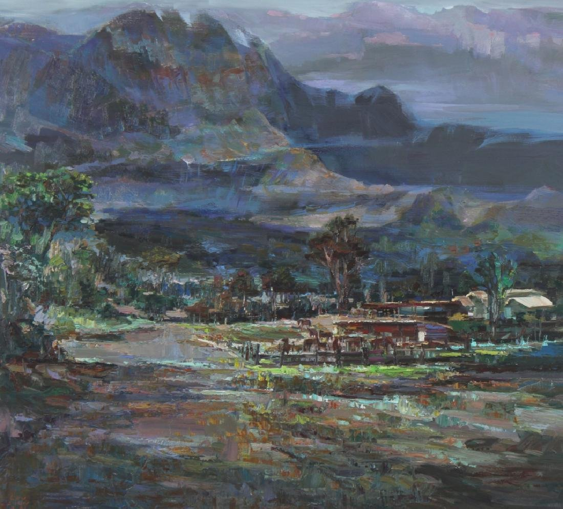 Lau Chun (b.1942) Hawaiian Landscape Oil Painting - 2