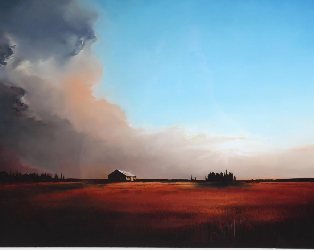 Richard Rowan Solace Reverse Oil On Glass Painting