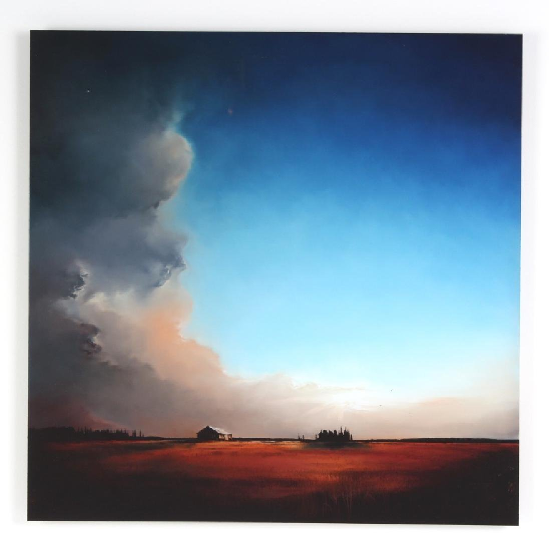 Richard Rowan Solace Reverse Oil On Glass Painting - 2