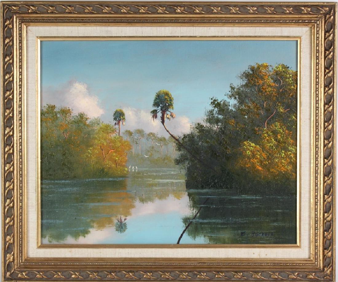 George Buckner Florida Highwaymen Landscape Painting - 2