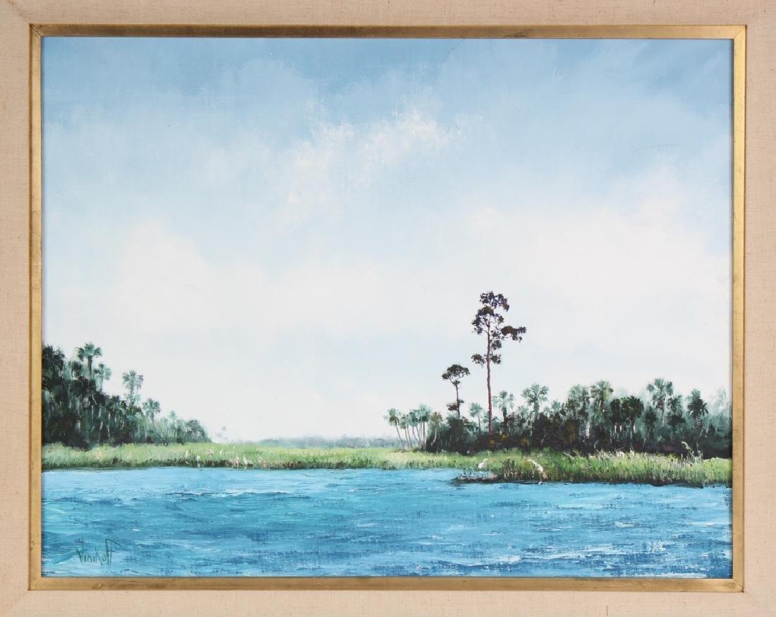 Sam Vinikoff b.1919 American Florida Landscape Painting