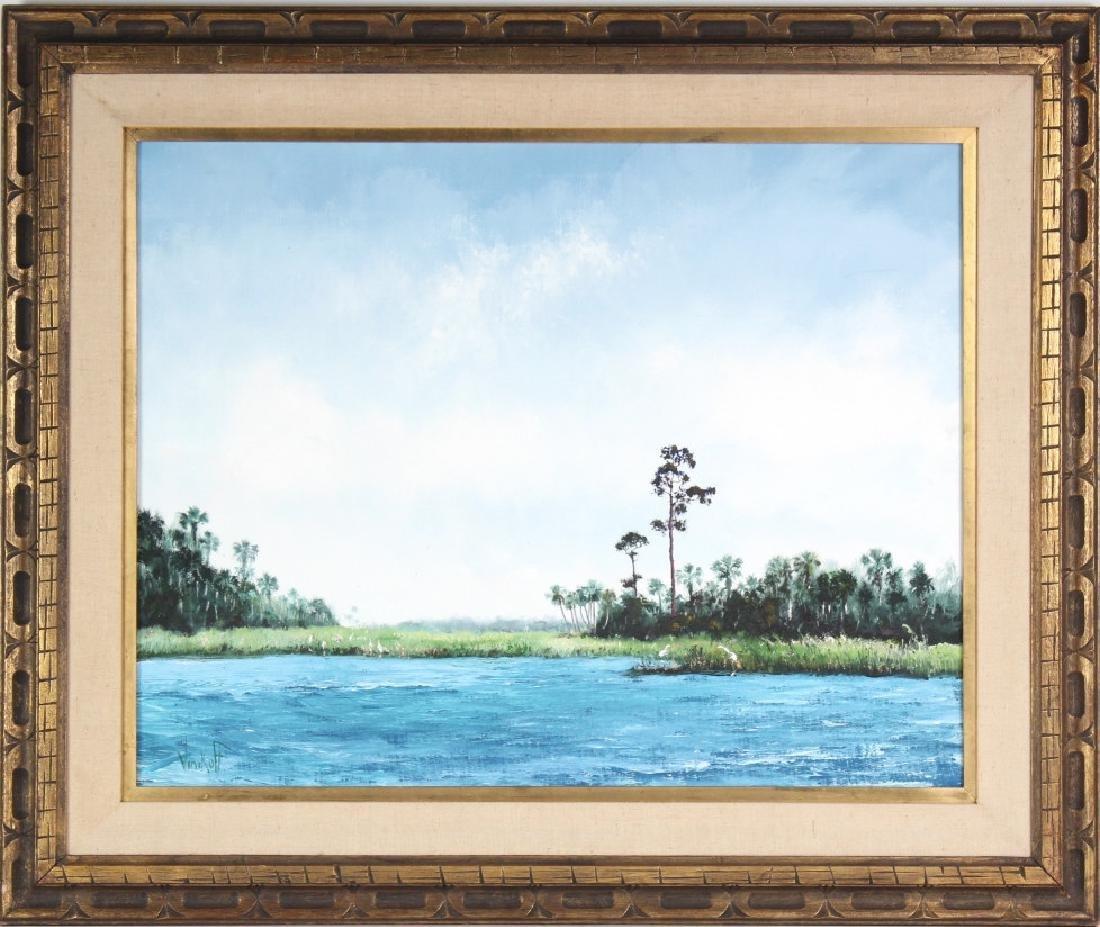 Sam Vinikoff b.1919 American Florida Landscape Painting - 2