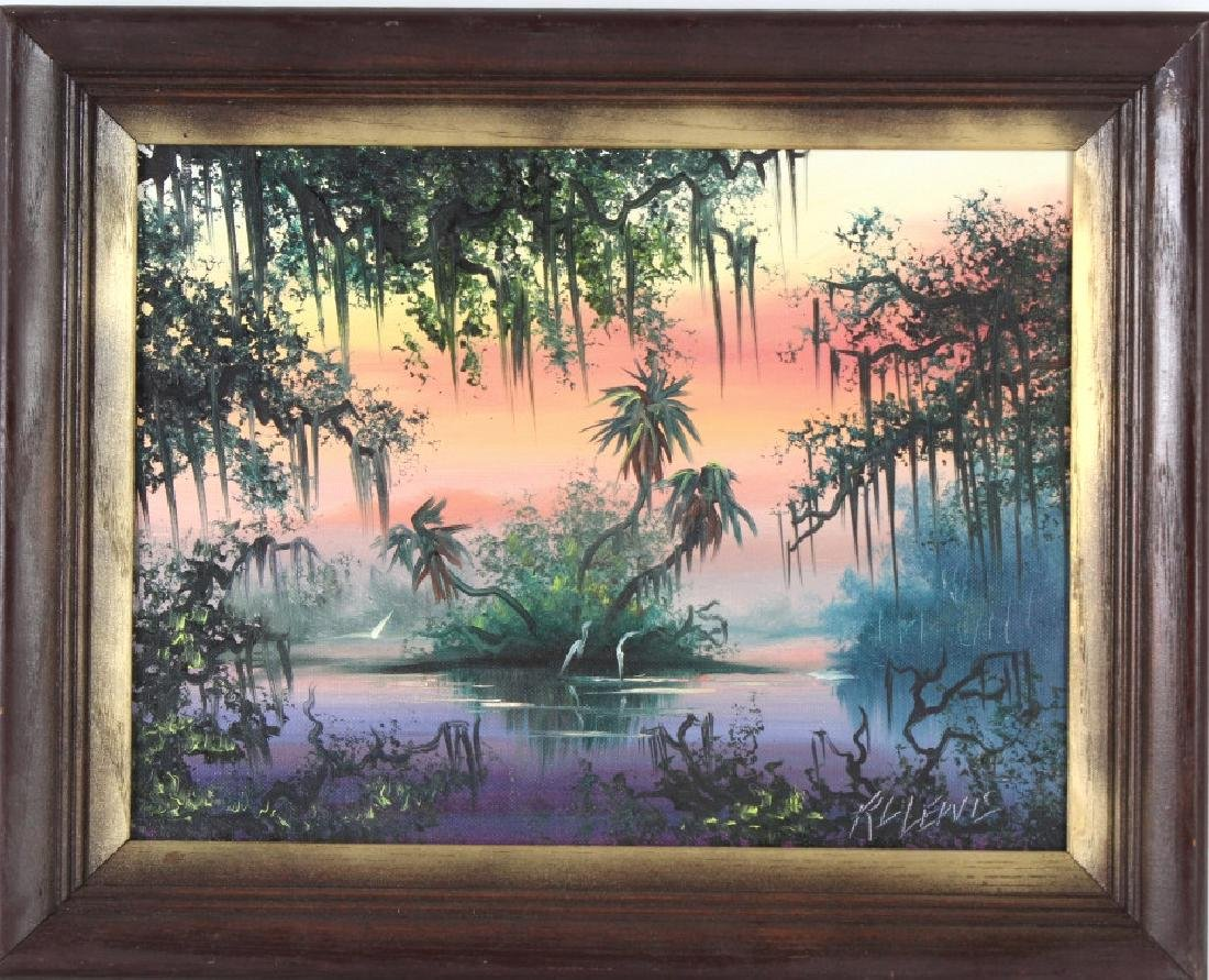 Robert Lewis American Florida Art Highwaymen Painting