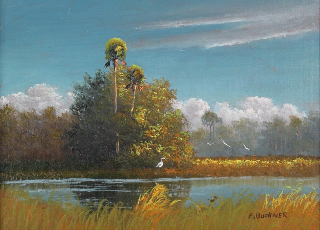 Ellis Buckner FL Highwaymen Landscape Art Oil Painting