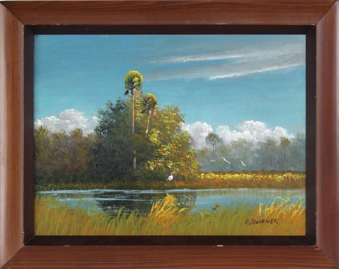 Ellis Buckner FL Highwaymen Landscape Art Oil Painting - 2