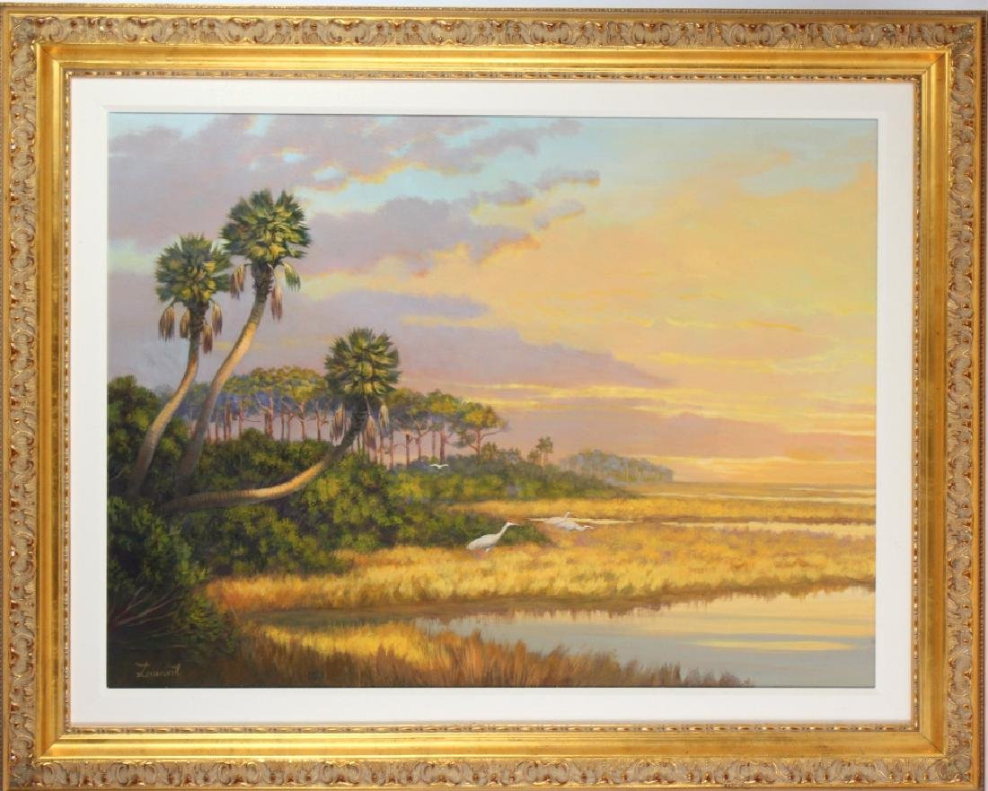 Florida Marsh Highwaymen Style Landscape Art Painting