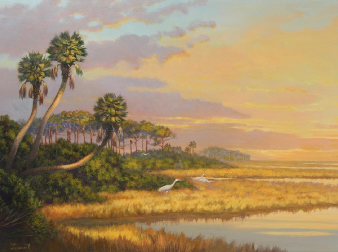 Florida Marsh Highwaymen Style Landscape Art Painting - 2
