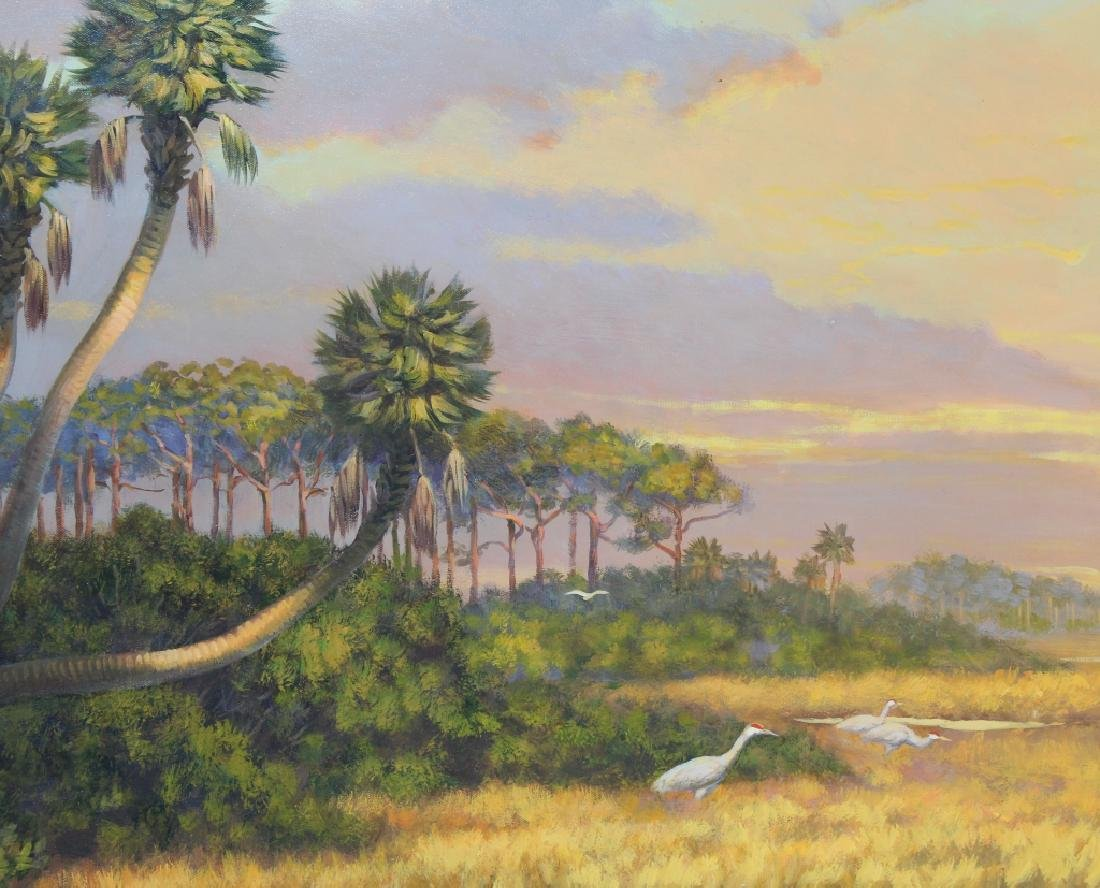 Florida Marsh Highwaymen Style Landscape Art Painting - 3
