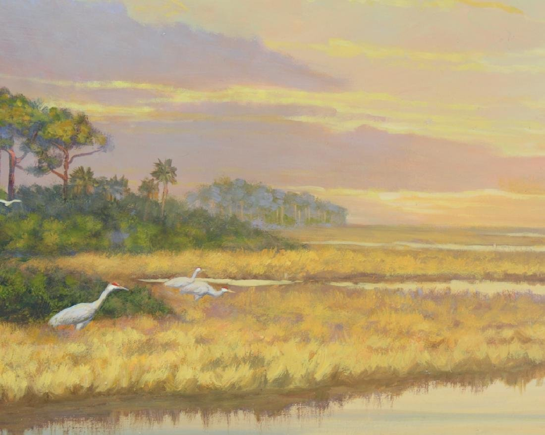 Florida Marsh Highwaymen Style Landscape Art Painting - 4
