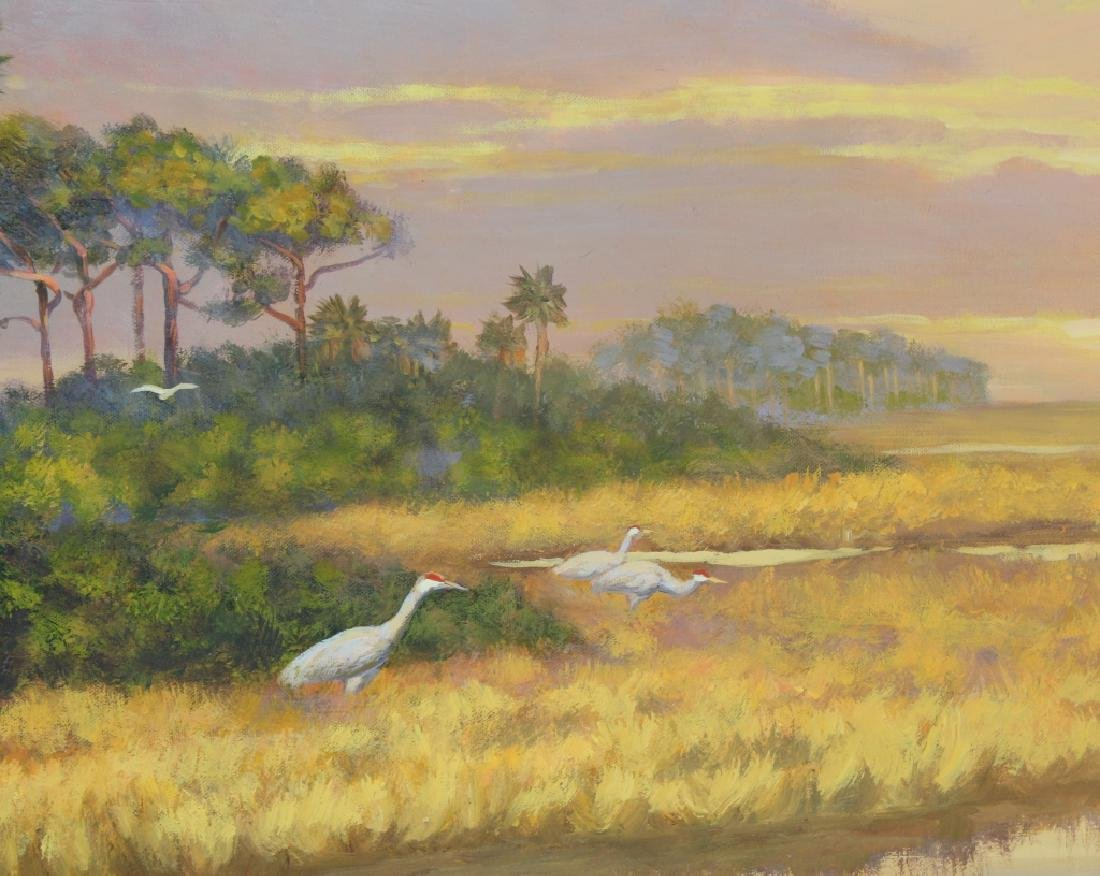 Florida Marsh Highwaymen Style Landscape Art Painting - 6