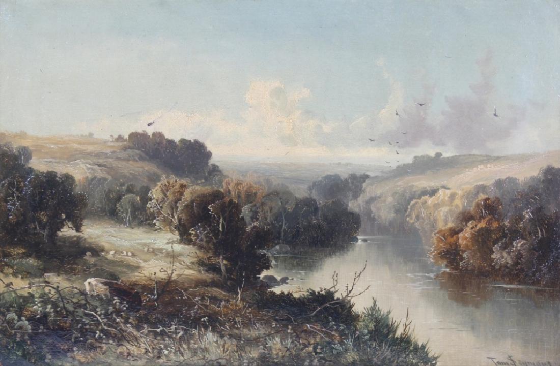 Tom Seymour (1844-1904) UK Landscape Art Oil Painting