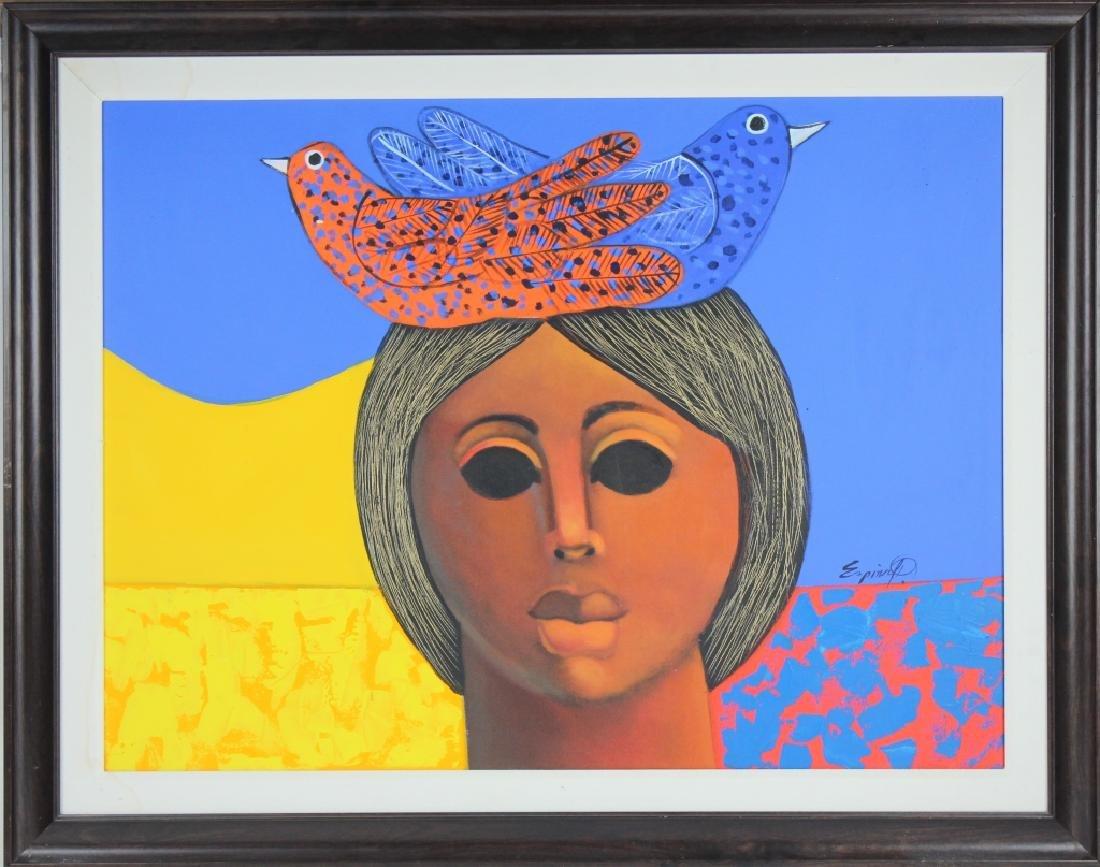 """ESPINA P """"Subrialiomo"""" Art Oil Painting ORIGINAL"""