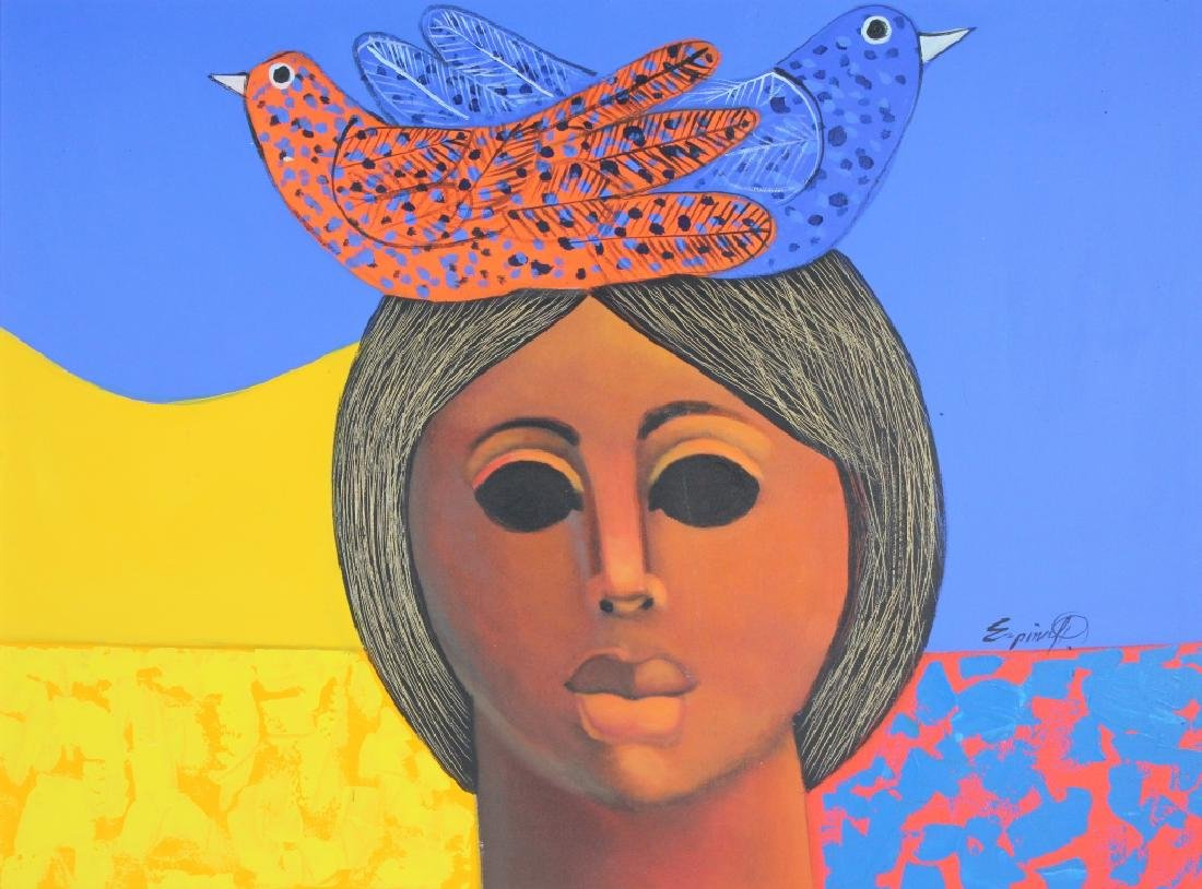 """ESPINA P """"Subrialiomo"""" Art Oil Painting ORIGINAL - 2"""