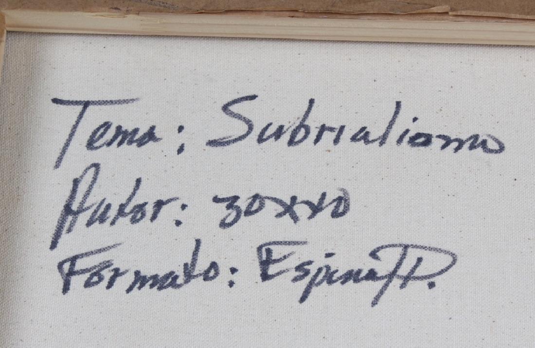 """ESPINA P """"Subrialiomo"""" Art Oil Painting ORIGINAL - 5"""
