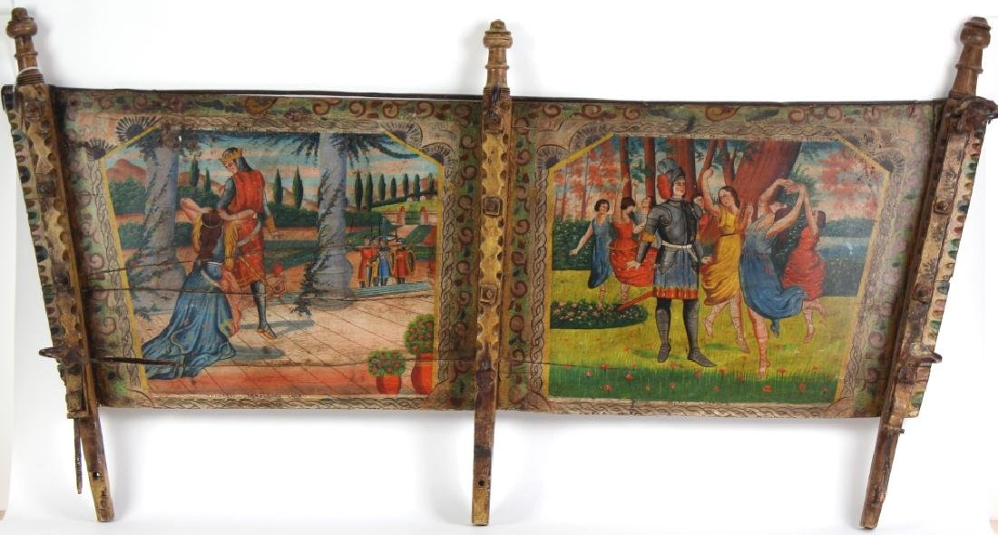 19th Century Italian Art Painted Donkey Cart Segment