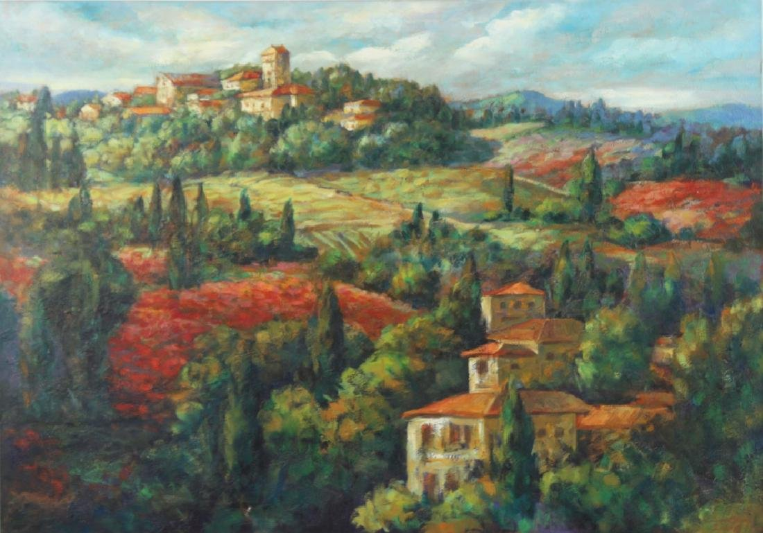 Signed Italian Landscape Oil Painting MYSTERY ART