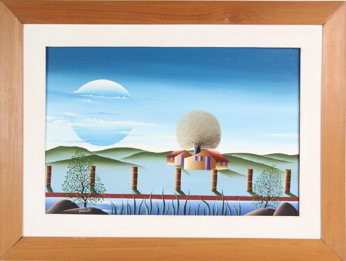 Brazilian Art Winter Landscape Oil Painting SIGNED
