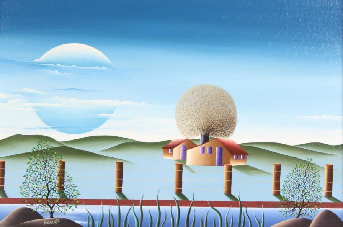 Brazilian Art Winter Landscape Oil Painting SIGNED - 2