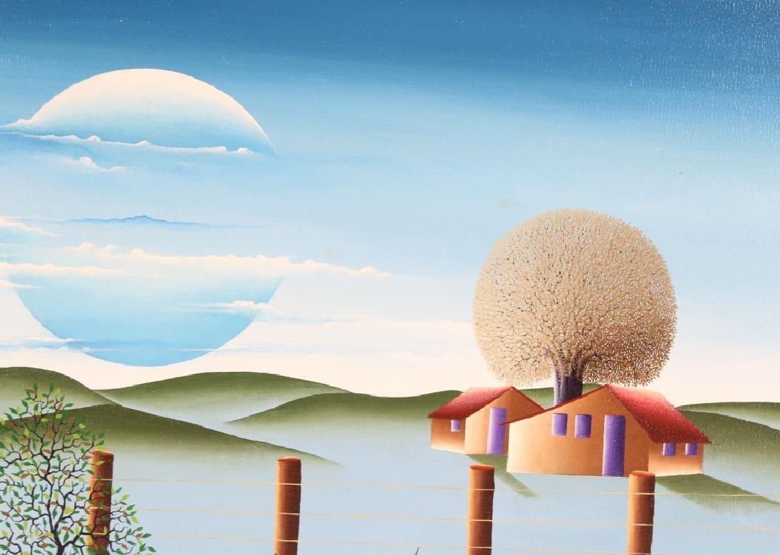Brazilian Art Winter Landscape Oil Painting SIGNED - 3