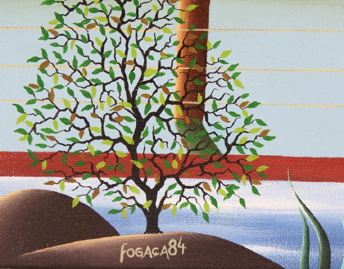 Brazilian Art Winter Landscape Oil Painting SIGNED - 4