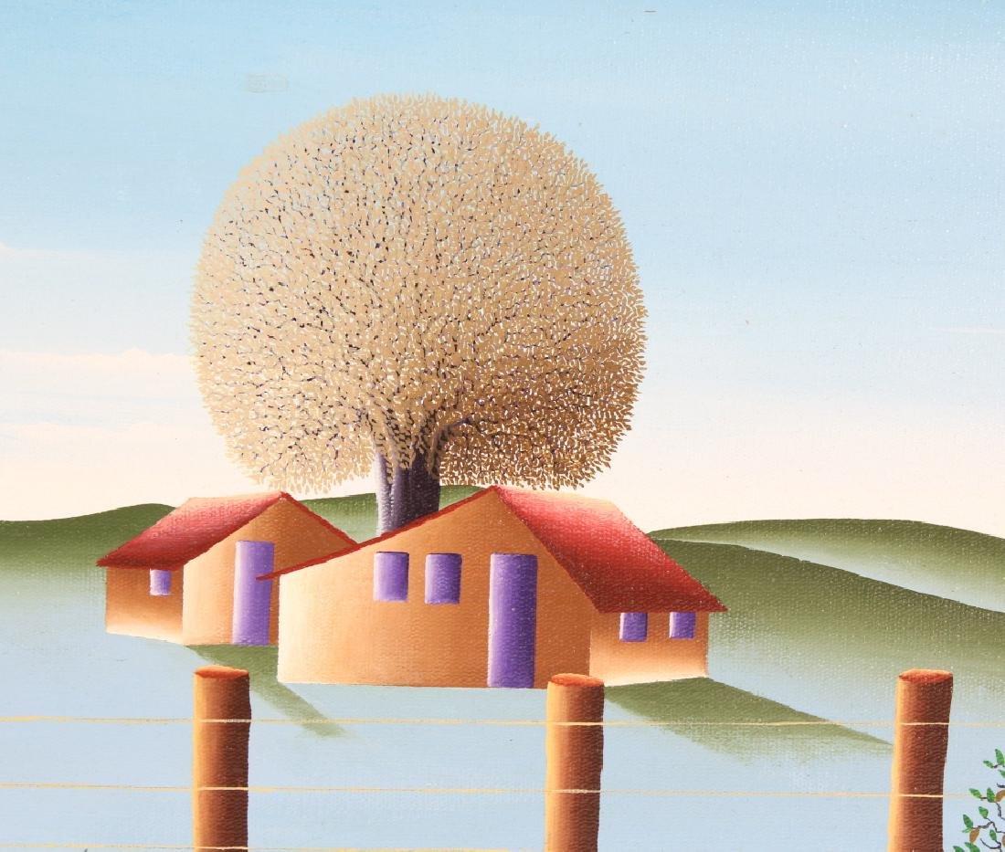 Brazilian Art Winter Landscape Oil Painting SIGNED - 5
