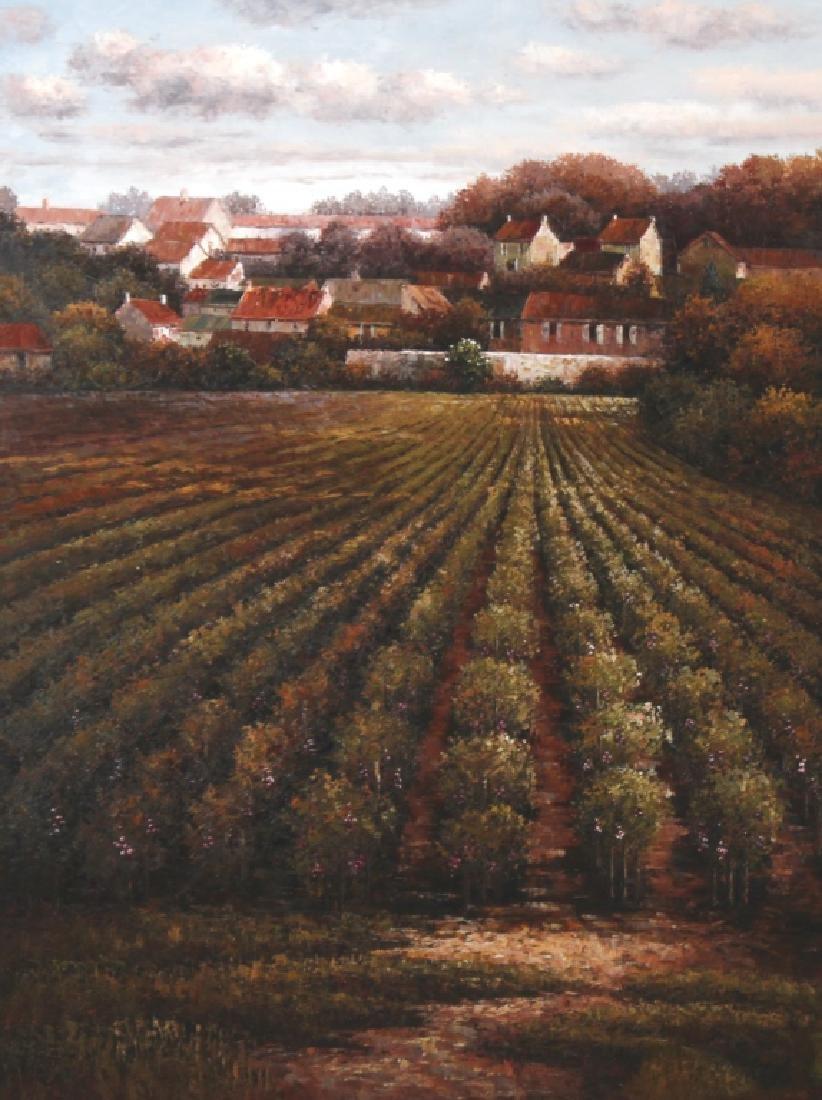 Signed K Paul Country Farm Landscape Art Oil Painting - 2