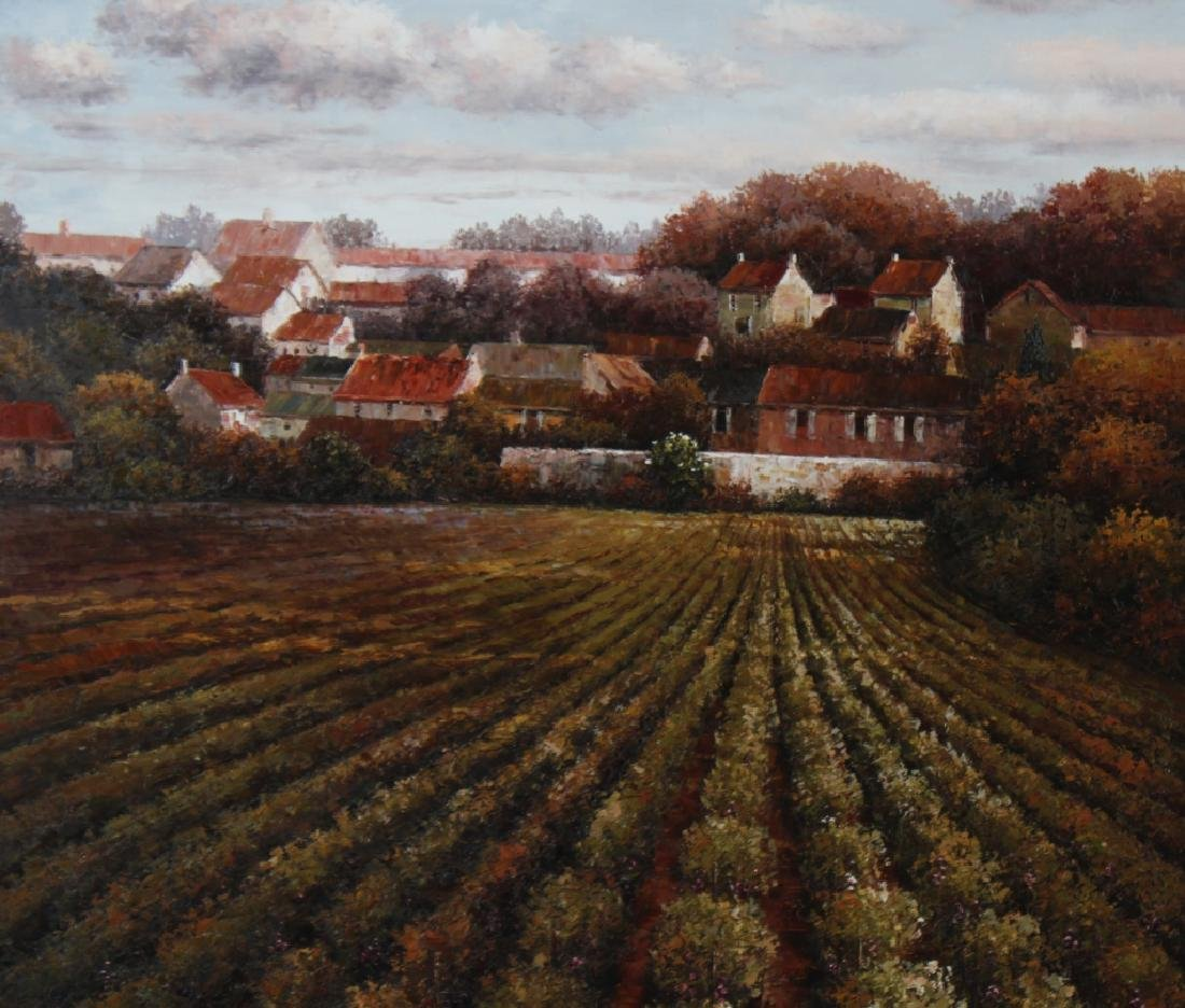 Signed K Paul Country Farm Landscape Art Oil Painting - 3