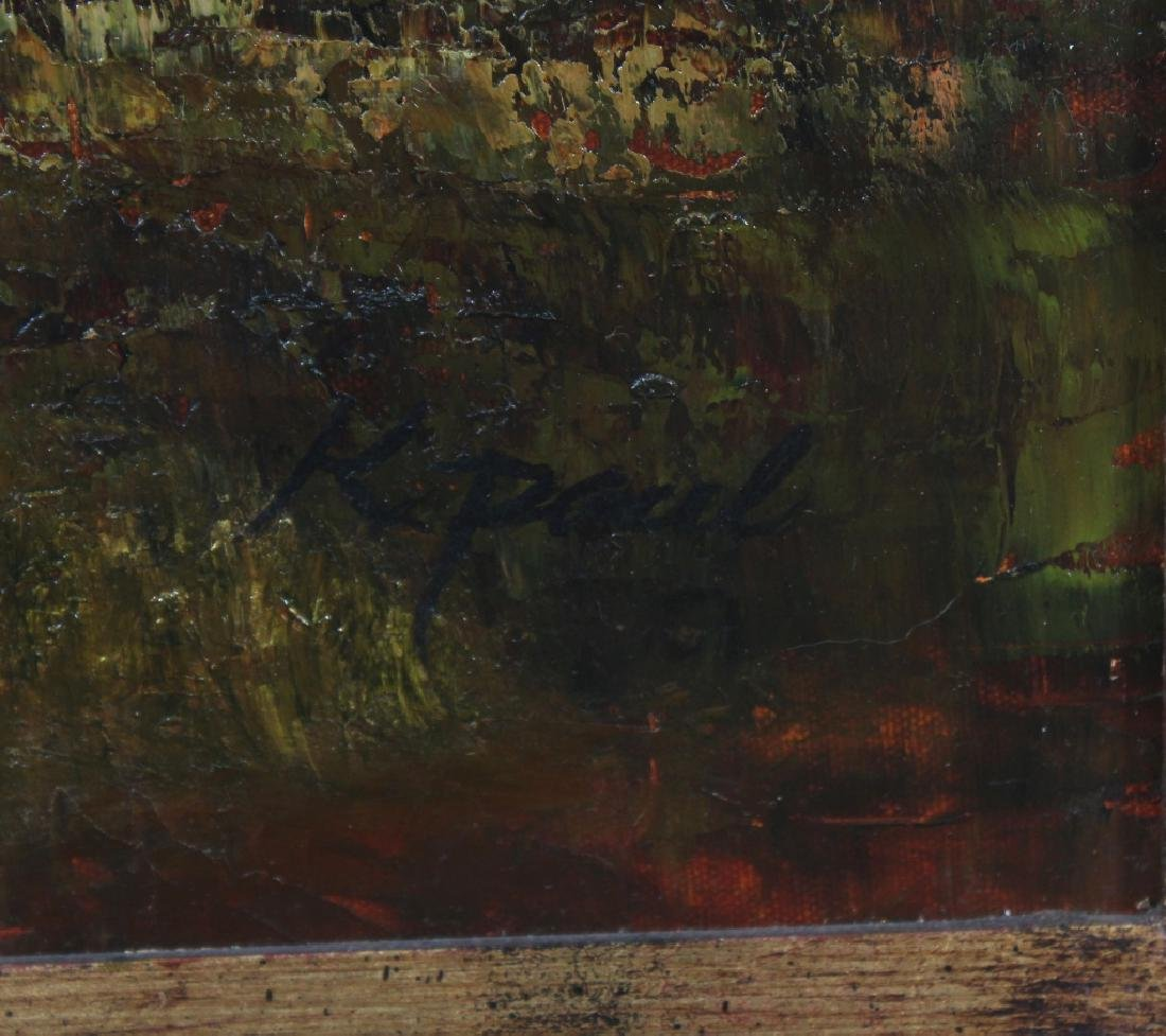 Signed K Paul Country Farm Landscape Art Oil Painting - 4